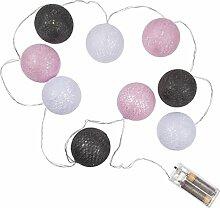 Led lichterkette rosa g nstig online kaufen lionshome - Lichterkette rattankugeln ...