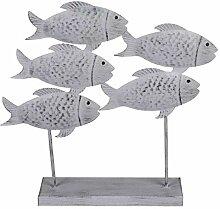 Out of the blue Deko-Skulptur Fischschwarm aus