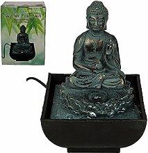 Out of the Blue Tischbrunnen, Sitting Buddha, Polyresin, Mehrfarbig, 17 x 14 cm
