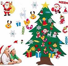 OUTAD DIY Filz Weihnachtsbaum 30pcs Ornamente