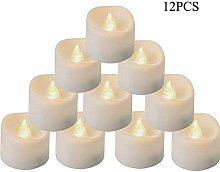 OUTANG LED Kerzen Teelichter Elektrische Flackern