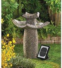 Outdoor Backyard Garden Asiatischer Tempel Solar Wasser Brunnen, Dual Powered, Solarpanel inklusive