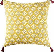 Outdoor-Bodenkissen aus Baumwolle, gelb mit