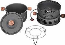 Outdoor Camping Kochtopf Set Pot Pan Bowl Geschirr