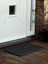 Outdoor-Fußmatte door-line RiZZ grau, Designer