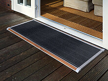 Outdoor-Fußmatte New Standard RiZZ grau, Designer
