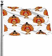 Outdoor Garden Flag,Thanksgiving Türkei Garten