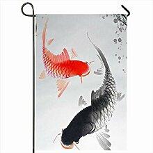 Outdoor Garten Flagge 12.5 x 18 Zoll Fisch