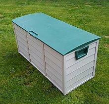 Outdoor Garten Kunststoff Speicher Dienstprogramm Brust Kissen Schuppen Box 248L
