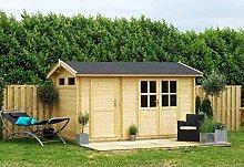 Outdoor Gartenhaus / Blockbohlenhaus William 250