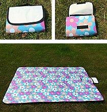 Outdoor Grill Reisen Wasserdicht Tragbar Strandtuch Feuchtigkeitsfest Picknickmatte 150 * 200cm,F-150*200cm