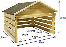 Outdoor Holz-Garage für selbstfahrende
