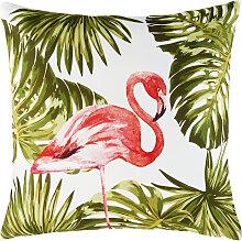 Outdoor-Kissen bedruckt mit Flamingo-Motiv 50x50