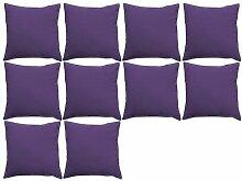Outdoor KISSEN gefüllt, wasserabweisend, 45.72 cm in violett - 10 Stück