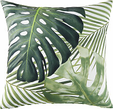 Outdoor-Kissen, weiß, bedruckt mit grünen