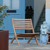 Outdoor Klappstuhl aus Eukalyptusholz modern