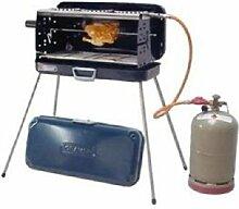 OUTDOOR - KOFFERGRILL - EDELSTAHL - KOFFER GRILL - mit 3 KOCHSTELLEN + 30 mbar Version - 80 cm Gasschlauch , Koffer, Seitenteile , Brenner und Kochplatten aus Edelstahl - MODELL: CRAMER BERGAMO - Vertrieb durch Holly Produkte STABIELO - Innovationen Made in Germany - Bei 30 mbar Grill nur ein Anschluß für eine Außengassteckdose vorhanden ! - holly-sunshade ®