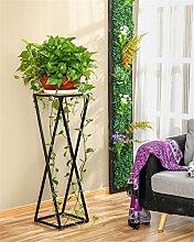 Outdoor Kräuter Flower Plant steht einfach und kreative europäischen Stil Blume Racks Innen und Außenbereich Wohnzimmer Balkon Dekoration Single Layer Blumentopf Rack Innen- und Außeneinsatz Vintage Stil, Large
