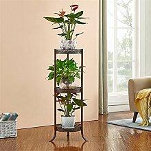 Outdoor Kräuter Flower Plant steht Pastoral Kreative Metall europäischen Stil Blume Racks Innen und Außenbereich Wohnzimmer Balkon Dekoration mehrere Schichten Blumentopf Rack Innen- und Außeneinsatz Vintage Stil, #1, S