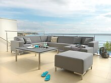 Outdoor Loungesofa mit Chaiselongue wetterfest