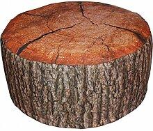 Outdoor Pouf EICHE oder FICHTE Baumstamm