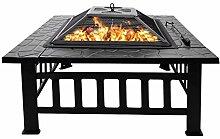 Outdoor Quadratische Feuerschale, Feuerstelle mit
