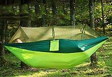Outdoor Reise-Hängematte mit Moskitonetz Ultra-light 2.8*1.5m Mehrpersonen Matte 300kg Belastbarkeit Set mit Befestigung für Reise, Camping, Garten, Trekking, Strand, Travel-Hammock