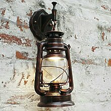 Outdoor - Retro - Der Wind Outdoor Wall Lamp Wasserdicht Europäischen Speisesaal Kreative Dekoration Laterne Lampe,B