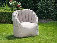 "Outdoor-Sessel Sitzsack Relaxsessel Ruhesessel Outdoormöbel Sessel Shell I"" Hellgrau"