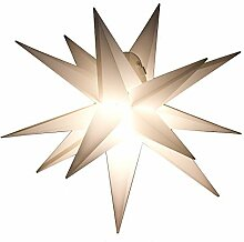 Outdoor Stern weiss - beleuchteter Stern