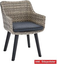 OUTDOOR Stuhl /Gartenstuhl mit Armlehnen und