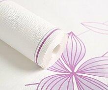 Outdoor-Tapete/kleine frische Blumen Streifen Tapete/Nordischen IKEA Tapete/Schlafzimmer/Wohnzimmer Einfuhren Vlies-Tapete-A