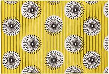 Outdoor-Teppich aus Polypropylen; gelb mit Motiven