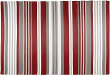 Outdoor-Teppich aus rot und weiß gestreiftem
