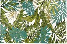 Outdoor-Teppich bedruckt mit tropischem Motiv