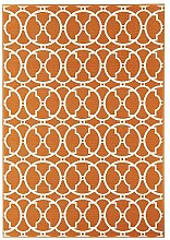 Outdoor-Teppich für Terrasse / Balkon Vitaminic Interlaced Orange 160 / 230 cm Teppich Indoor / Outdoor - für drinnen und draussen