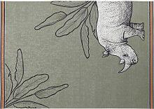 Outdoor-Teppich, grün, bedruckt mit Rhinozerossen