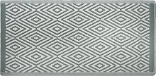 Outdoor Teppich Hellgrün Weiß Polypropylen 90 x