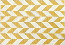 Outdoor-Teppich mit gelben und weißen