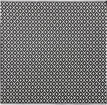 Outdoor-Teppich mit schwarzen und weißen