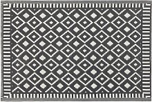 Outdoor-Teppich Schwarz mit kontrastierendem