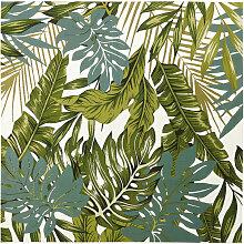 Outdoor-Teppich, weiß, bedruckt mit grünen