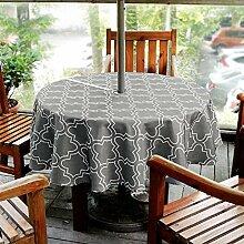 Outdoor-Tischdecke Lamberia mit Schirmloch,