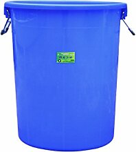 Outdoor trash can CSQ Property Mülleimer, Große Kunststoff Rund Mülleimer Hotel Küche Industrie Hygiene High Capacity Covered Verdicken Speicher Eimer 40-60L Innen (Farbe : Blau, Größe : 40L)
