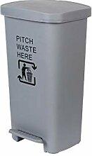 Outdoor Trash Can mit Fuß Step Pedal Deckel,