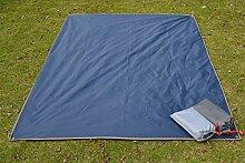 Outdoor Wasserdicht Oxford Tuch Zelt Teppich Picknickdecke Strandtuch 210 * 150cm,Black-210*210cm
