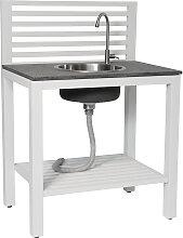 Outdoorküche - Bellac Waschbecken - Weiß