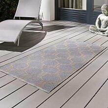 Outdoorteppich in Grau/Taupe ca.70x140cm