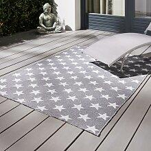 Outdoorteppich in Grau/Weiß ca.120x170cm