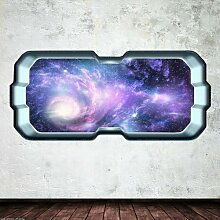Outer Space Galaxy Stars Fenster Full Farbe Art